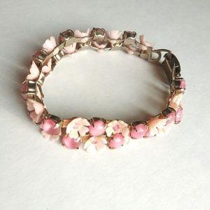 Vintage 60s Flower Petal Double Bracelet
